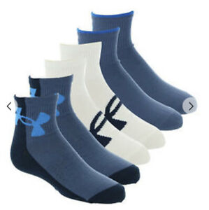 Boys,Under Armour 6Pk Essential Qt Cut Socks, Size 4Y-8Y, $2.99 Shipping