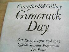 GIMCRACK DAY RACE CARD 23RD AUGUST 1973