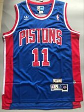 Men's Detroit Pistons Isiah Thomas Blue Throwback Swingman Jersey Size S-XXL