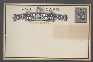 BRITISH CENTRAL AFRICA PROTECTORATE EXTERNAL POST CARD 2d BLACK UNUSED