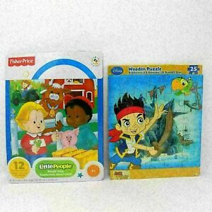 Fisher Price Preschool Puzzle Set of 2 Little People and Jake Neverland Pirates
