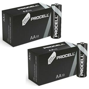 PROCELL AA Batteries LR6 1.5V Expiry 2026 Replaces Duracell Industrial 20 Pack