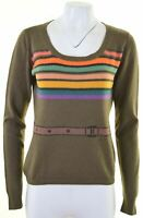 MAX MARA Womens Scoop Neck Jumper Sweater Size 16 Large Green  GR07