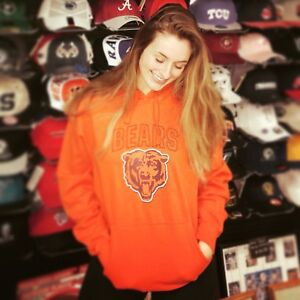 XL BRAND New NWT NFL Chicago Bears BEAR Orange hooded Hoodie Sweatshirt HOOD