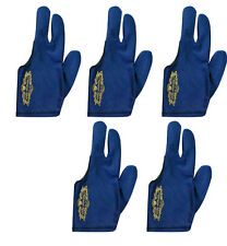 5 Champion Sport Dark Blue Billiards Gloves For Pool Cues Stick(5 pieces)