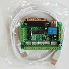 New USB 5 Axis CNC Breakout Board for Stepper Driver Controller mach3