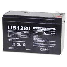 UPG 12V 8Ah Fire Alarm Control Panel Battery Replaces 7Ah Radionics D126
