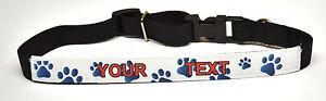 Personalised Fabric Dog Collar