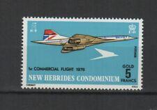 RF Nouvelles-hébrides 1976 Concorde 1er vol commercial timbre neuf MNH /TR7448