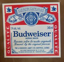 VINTAGE CANADIAN BEER LABEL - LABATTS QUEBEC, BUDWEISER BEER 341 ML #2