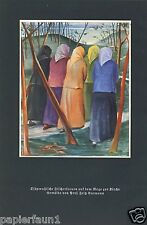 Ostpreussen Fischerfrauen Kunstdruck von 1935 Fritz Burmann Wiedenbrück Kirchweg
