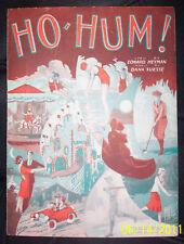 Ho Hum 1931 Sheet Music