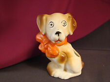 "Vintage Japan Jack Russell Terrier Dog Figurine Planter 3.25"" Whimsical 55-70yrs"