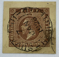 1926 REGISTERED SON CANCEL ON FIJI CUT SQUARE, 95% CENTERED