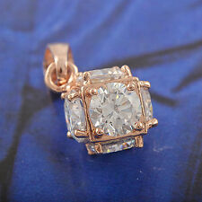 korean jewelry gemstone rose gold filled crystal stone pendant for long necklace