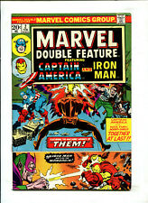 """MARVEL DOUBLE FEATURE #2 (4.5) CAP AND IRON MAN! """"THEM!"""" 1973!"""