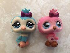 Littlest Pet Shop RARE Owl #496 1728 Blue Teal Purple Pink Bird Lot