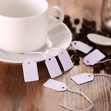 White Price Tags Strung Paper Jewelry Display Name Label Clothes Marking 500 Pcs