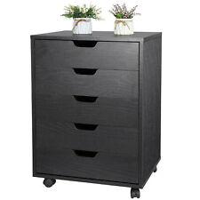 Dresser Bedside 5 Drawers Furniture Storage Tower Unit for Bedroom Office Home