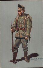 German Military Soldier/Officer in Uniform Aluschwitz Kurettski 1915 WWI PC #6