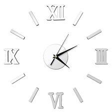 Modern DIY Large 3D Number Mirror Wall Sticker Big Watch Home Decor Art Clock