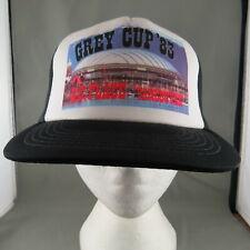 CFL Trucker Hat (VTG) - Grey Cup 1983 Official Trucker Hat - Adult Snapback