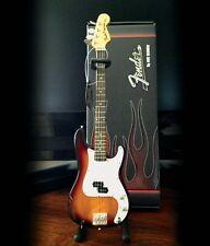 Fender Precision Bass Sunburst Finish Miniature Guitar Replica NEW 000149844