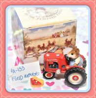 ❤️Wee Forest Folk M-133 Field Mouse Red Tractor Retired Farmer WFF 1985❤️