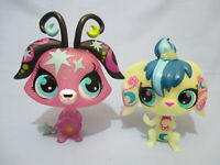 Littlest Pet Shop Lot 2 Large Moonlite Sparkle Fairies Glow in Dark Exclusive