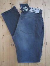 BLK DNM Johan Lindeberg Grey Jeans 3 Regular Rise Slim Taper W31 L34 BNWT