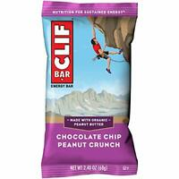 CLIF BAR Energy Chocolate Chip Peanut Crunch (2.4 Ounce Protein Bars, 12 Count)