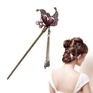 Fermaglio spillone Farfalla Viola accessori capelli acconciatura fermacapelli