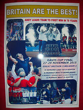 Great Britain 3 Belgium 1 - 2015 Davis Cup final - souvenir print