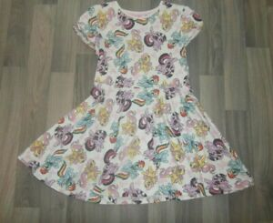 HASBRO MY LITTLE PONY GIRLS PONIES PRINT COTTON T-SHIRT DRESS AGE 5 6 YEARS