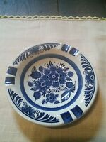 """Blauw Delft hand painted 6"""" Dutch ashtray used for display EUC"""