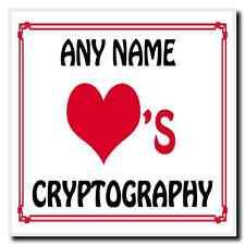 Love coeur cryptographie personnalisés coaster