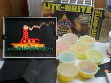 Vintage Hasbro 1981 Lite Brite Light Bright Pegs Design & Extra Blank Sheets