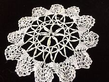Antique Lace Small Doily Primitive Round Salvage Costume Doll Rug Blythe Art  5""