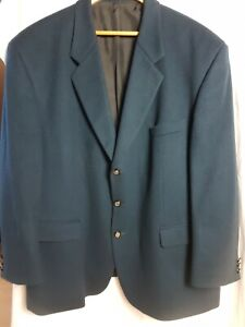 """DI CAPRIO Petrol Blue/Green Wool & Cashmere Jacket 50"""" Chest"""
