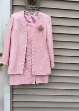 Carissimo Women Pink Beaded Skirt Suit Size 14