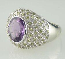 Anelli di lusso con gemme viola in argento da 925 parti su 1000