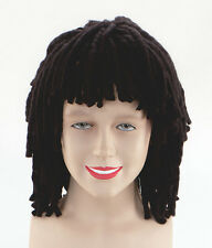 RASTA WIG SHORT JAMAICAN BLACK DREADLOCKS RUUD GULLIT FANCY DRESS