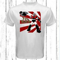 Shin Mazinger Z Anime Cartoon Logo Men's White T-Shirt Size S-3XL