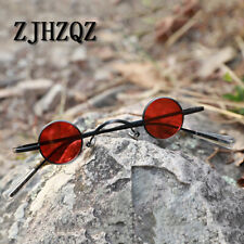 Retro Steampunk Polarized Sunglasses Simple Small Round Funny Military Glasses