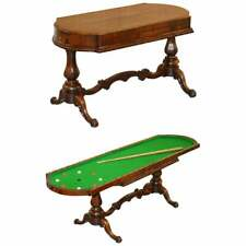 RESTORED EARLY VICTORIAN ROSEWOOD BAGATELLE TABLE ORNATELY CARVED PUB GAMES
