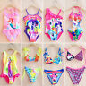 Kids Baby Girls Cartoon Summer Swimwear Bikini Tankini Swimsuit Swimming Costume