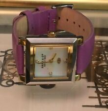 Haas & Cie IKC195NFK Silver Tone/Purple Leather Women's Watch PARTS ONLY!