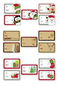 50 CHRISTMAS SELF ADHESIVE GIFT LABELS XMAS ON A ROLL * 3 Choices