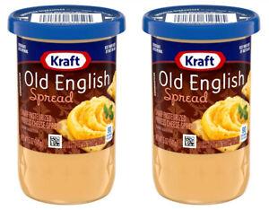2 Kraft Old English Sharp Cheese Spread 5 oz Jars