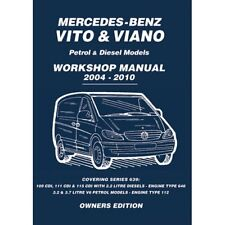 buy car service repair manuals vito ebay